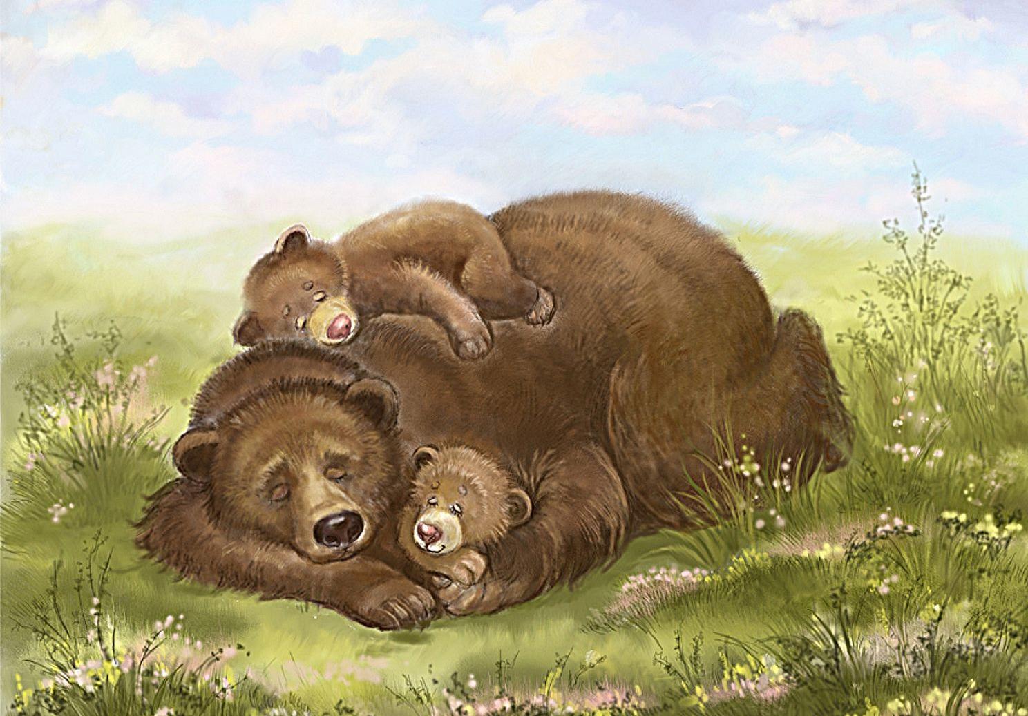 сдачи экзаменов картинки медведица и три медвежонка дизайн логотипа