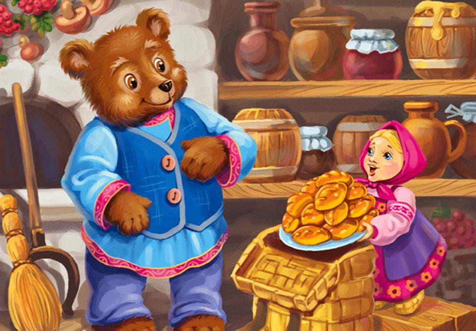 Картинки из русской народной три медведя