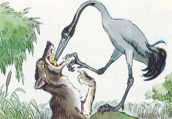 Слушать онлайн аудиосказку «Волк и Журавль» | AudioBaby